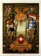 Vintage Swiss National Exhibition poster (1887)